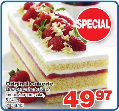 Original Cakerie Strawberry Shortcake Or Lemon & Cream Cake - 5.24 Kg