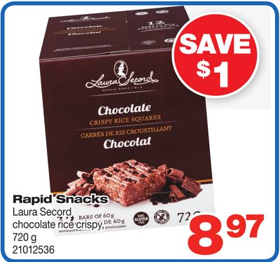 Rapid Snacks Laura Secord Chocolate Rice Crispy - 720 g