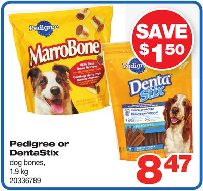 Pedigree Or Dentastix Dog Bones - 1.9 Kg