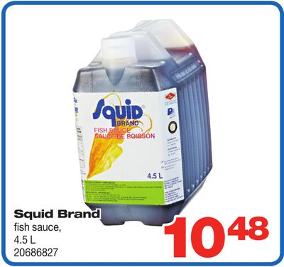 Squid Brand Fish Sauce - 4.5 L