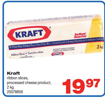 Kraft Ribbon Slices - Processed Cheese Product - 2 Kg