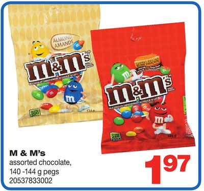 M & M's Assorted Chocolate - 140 -144 g Pegs