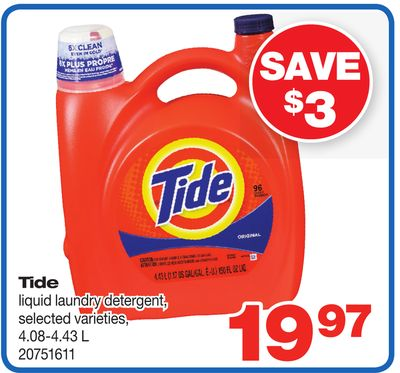 Tide Liquid Laundry Detergent - 4.08-4.43 L