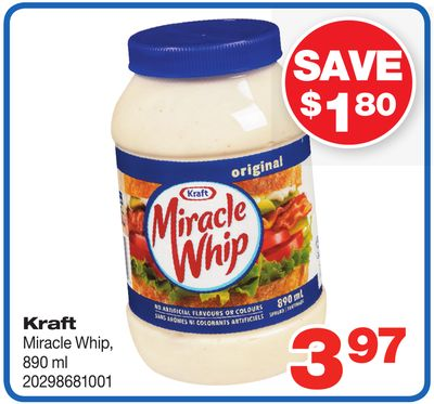 Kraft Miracle Whip - 890 ml