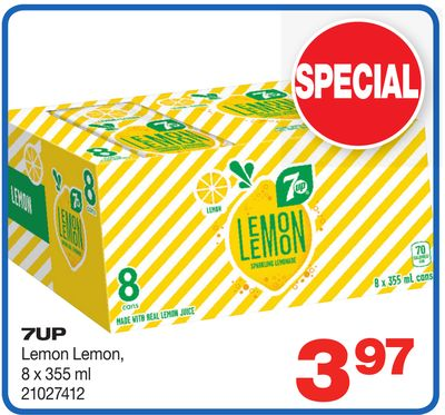 7up Lemon Lemon - 8 X 355 ml