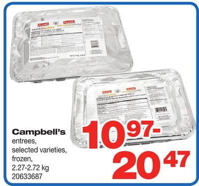 Campbell's Entrees - 2.27-2.72 Kg
