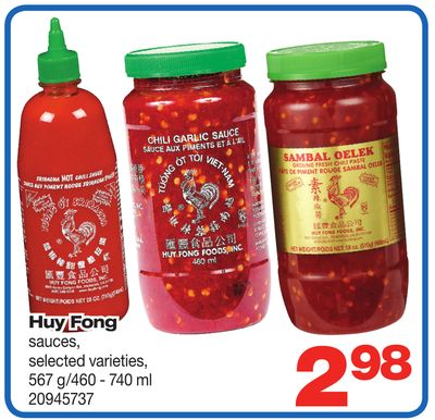 Huy Fong Sauces - 567 G/460 - 740 ml