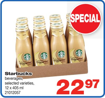 Starbucks Beverages - 12 X 405 ml