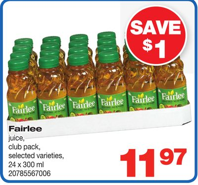 Fairlee Juice - Club Pack - 24 X 300 ml