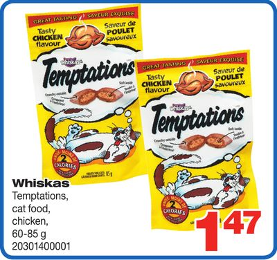 Whiskas Temptations - Cat Food - Chicken - 60-85 G