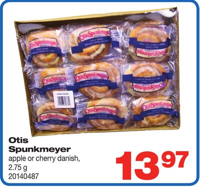 Otis Spunkmeyer Apple Or Cherry Danish - 2.75 g