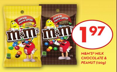 M&m's Milk Chocolate & Peanut (120g)
