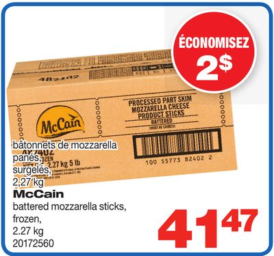 Mccain Battered Mozzarella Sticks - 2.27 Kg