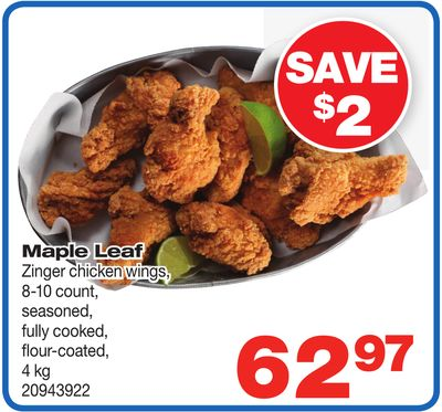 Maple Leaf Zinger Chicken Wings - 4 Kg