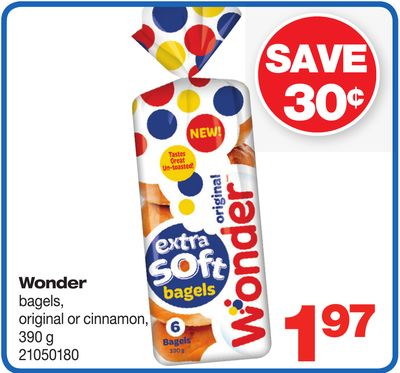 Wonder Bagels - Original Or Cinnamon - 390 G
