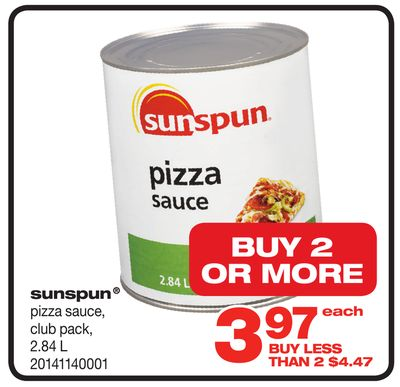 Sunspun Pizza Sauce - 2.84 L