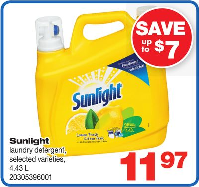 Sunlight Laundry Detergent - Selected Varieties - 4.43 L