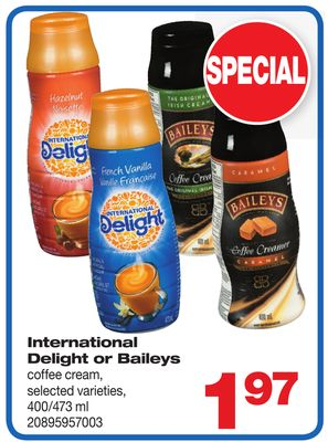 International Delight Or Baileys Coffee Cream - 400/473 ml