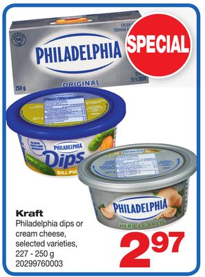 Kraft Philadelphia Dips Or Cream Cheese - 227 - 250 g