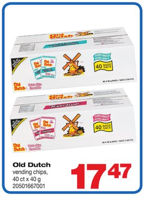 Old Dutch Vending Chips - 40 Ct X 40 G
