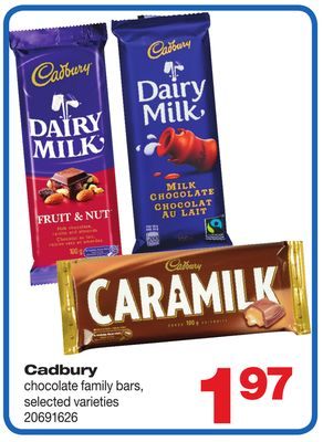 Cadbury Chocolate Family Bars