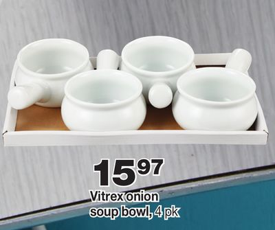 Vitrex Onion Soup Bowl - 4 Pk