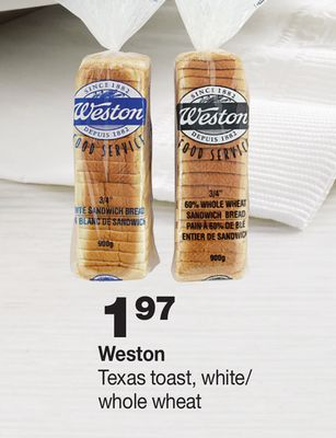 Weston Texas Toast - White/ Whole Wheat