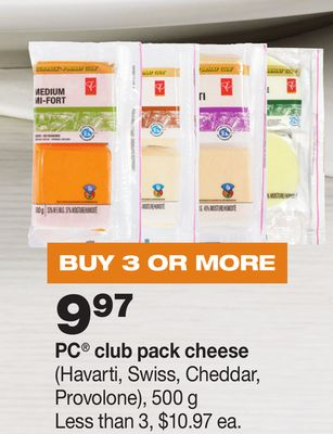 PC Club Pack Cheese - 500 g