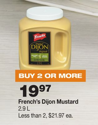 French's Dijon Mustard - 2.9 L