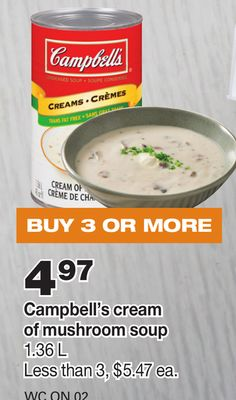 Campbell's Cream Of Mushroom Soup - 1.36 L