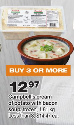 Campbell's Cream Of Potato With Bacon Soup - 1.81 Kg