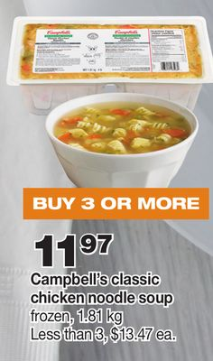 Campbell's Classic Chicken Noodle Soup.1.81 Kg