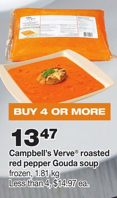 Campbell's Verve Roasted Red Pepper Gouda Soup - 1.81 Kg