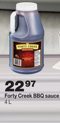 Forty Creek Bbq Sauce 4 L