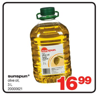 Sunspun Olive Oil - 3 L