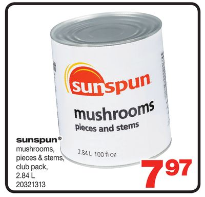 Sunspun Mushrooms - 2.84 L