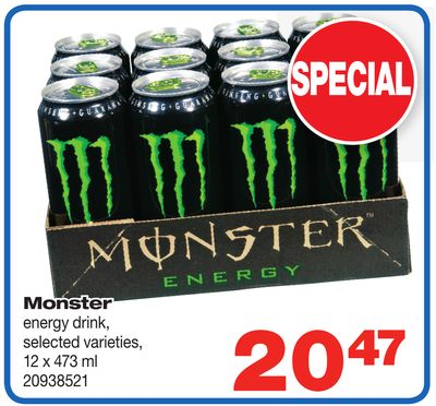 Monster Energy Drink - 12 X 473 ml