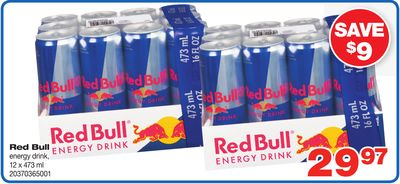 Red Bull Energy Drink - 12 X 473 ml
