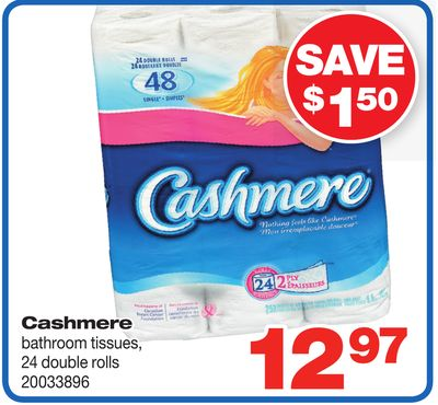 Cashmere Bathroom Tissues - 24 Double Rolls