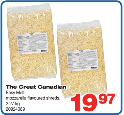 The Great Canadian Easy Melt Mozzarella Flavoured Shreds - 2.27 Kg