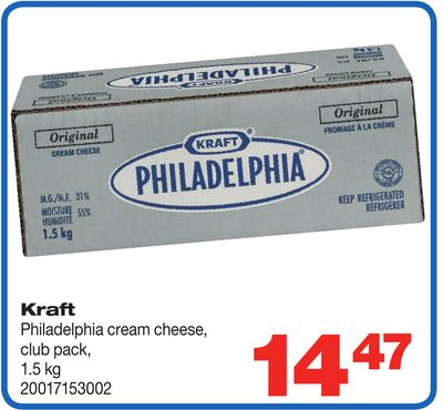 Kraft Philadelphia Cream Cheese - 1.5 Kg