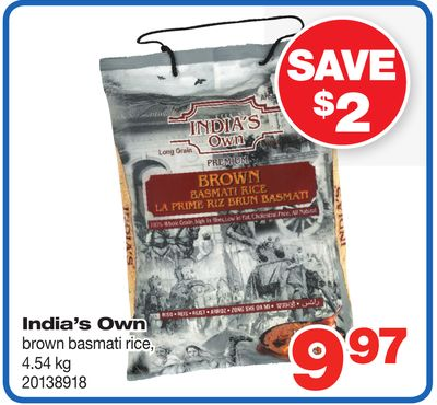 India's Own Brown Basmati Rice - 4.54 Kg