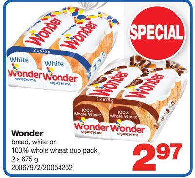 Wonder Bread - 2 X 675 g