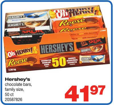 Hershey's Chocolate Bars - 50 Ct