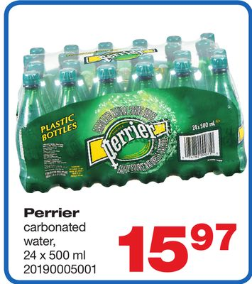 Perrier Carbonated Water - 24 X 500 ml