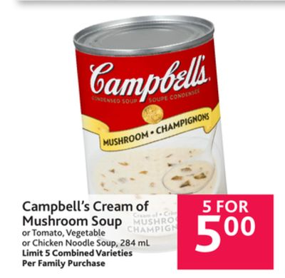 Campbell 39 S Cream Of Mushroom Soup Or On Sale