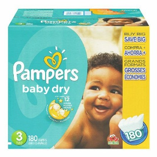 Pampers Baby Dry - Swaddlers or Cruisers Club Size Plus Diapers