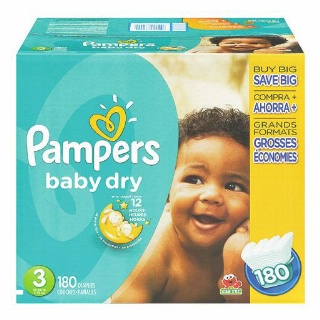Pampers or Huggies Diapers