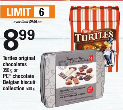 Turtles Original Chocolates - 350 g Or PC Chocolate Belgian Biscuit Collection - 500 g