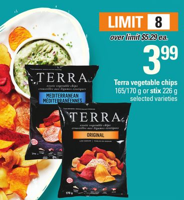 Terra Vegetable Chips 165/170 g Or Stix 226 g